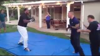 2 pro MMA fighters go head to head
