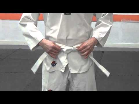 How To Tie Your Belt For Taekwondo video