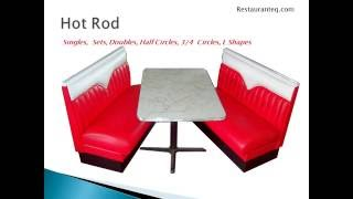 Retro Diner Booths by Restaurant Equipment Warehouse