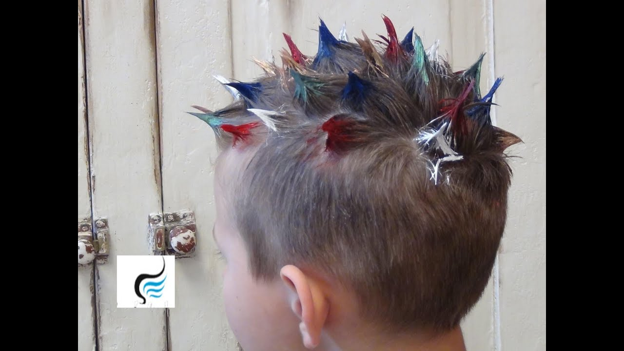 How To Do Crazy Spiked And Mohawk Hairstyle For Boys Hair
