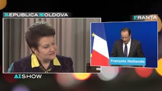 Provocare AISHOW: Vitalia Pavlicenco pune întrebări lui François Hollande