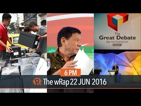 Duterte on business, Roxas' SOCE, Brexit battle | 6PM wRap