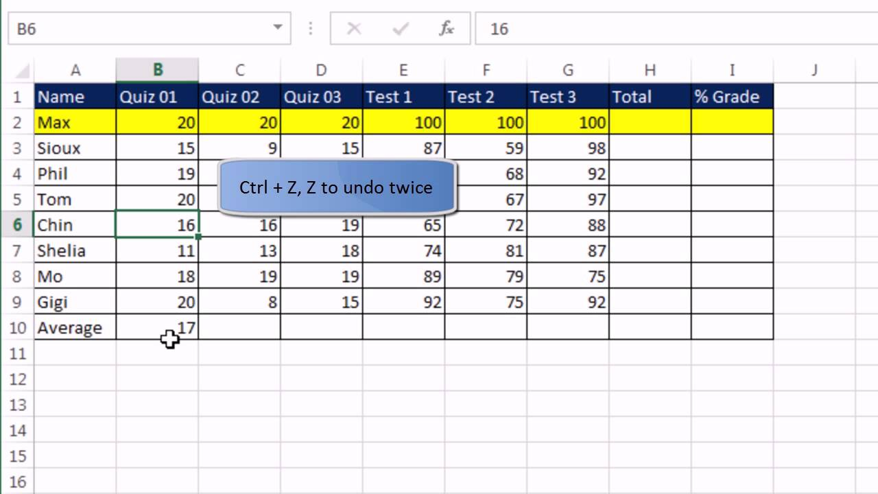 office 2013 class  19  excel basics 1  excel grid