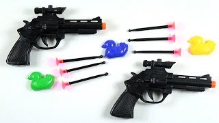 Learn Colors With Box of Toys! 2 Awesome Toy Guns - Johny Johny Yes papa Song Learn Colors With Kids