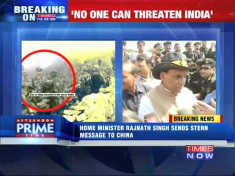 Home Minister Rajnath Singh sends stern message to China