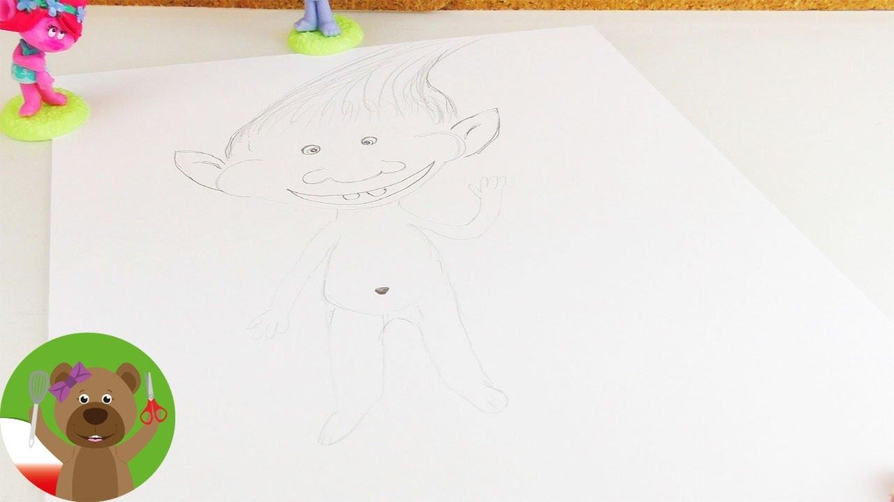 Malowanie i Rysowanie | malujemy trolle | portret sympatycznego trolla
