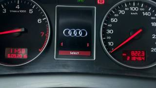 Audi A4 B6 - color instrument cluser - English version