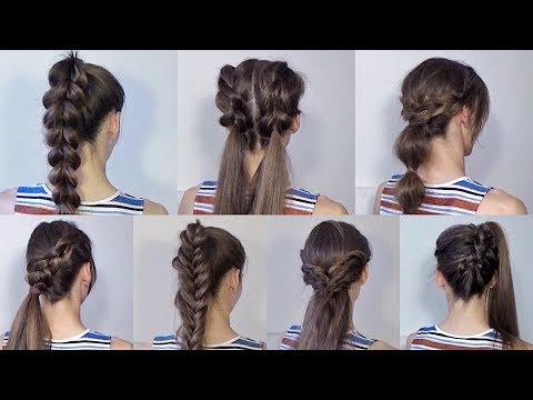 Прическа для школы на длинные волосы на каждый день своими руками 85