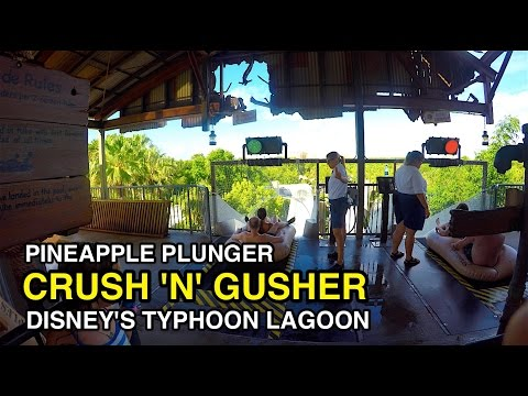 [4K] Crush 'n' Gusher - Pineapple Plunger : Typhoon Lagoon (Orlando, FL)