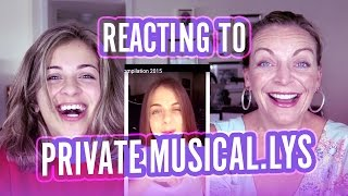 REACTING TO MY PRIVATE MUSICAL.LY