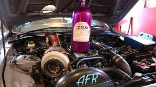 Big turbo Supra Gets Nitrous