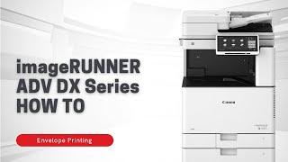 Canon | MyCanon Business: Envelope Printing