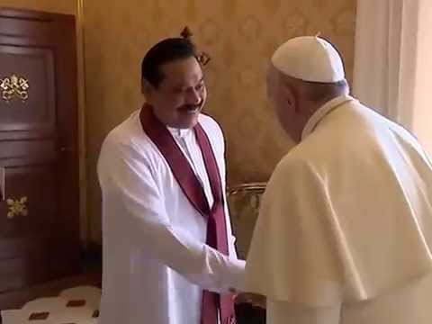 Pope Francis meets President of Sri Lanka