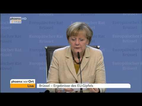 EU-Gipfel: Bundeskanzlerin Angela Merkel zur wirtschaftlichen Lage am 24.10.2014