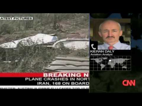 Crashed Iranian airliner June 15 2009 Video