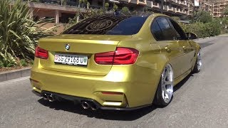 Stanced BMW M3 F80 with Decat Straight Pipes Exhaust LOUD Sounds!