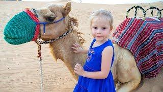 Путешествие по пустыне Сафари в Дубаи Влог для детей Safari in desert Dubai