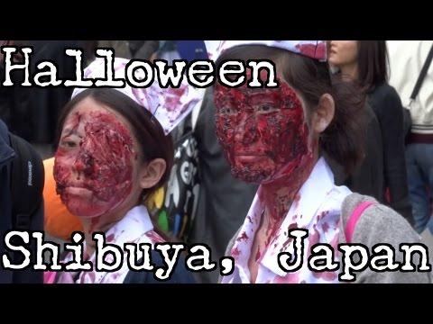 Halloween In Tokyo ( Japan ).  Crazy Costumes in Shibuya.