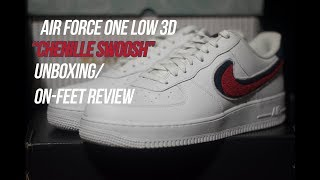 """Air Force 1 Low 3D Swoosh """"Chenille"""" 