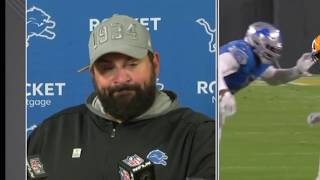Matt Patricia reacts to controversial calls in Lions' loss
