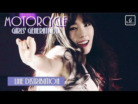 Girls' Generation - Motorcycle (Line Distribution)