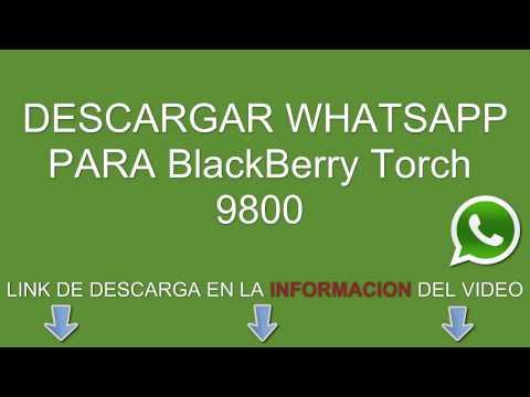 Descargar e instalar whatsapp para BlackBerry Torch 9800 gratis