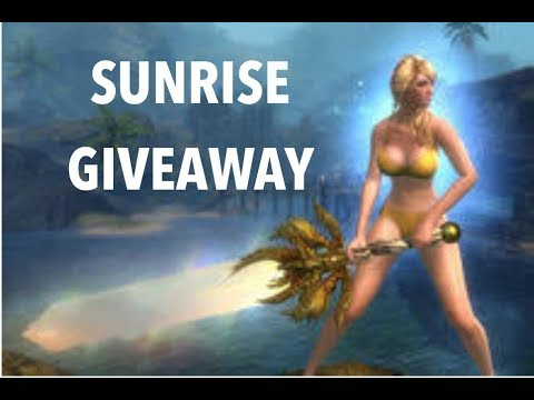 GW2 SUNRISE LEGENDARY GIVEAWAY ! TO LAUNCH MY GW2 CHANNEL