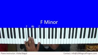 Kabhi Jo Badal Barse Piano Tutorial by Vishal Bagul | Melody + Arpeggios | 10 Magical Fingers