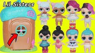 LOL Surprise Dolls find Lil Sisters in Lil Woodzeez House