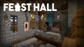 Minecraft Building w/ BdoubleO ::Castle Feast Hall! :: ep 316