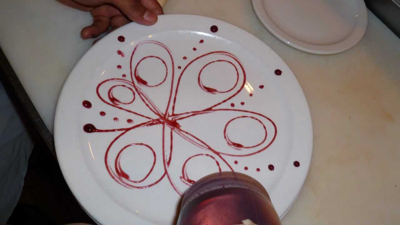 plate decorating by hand and garnish decor youtube