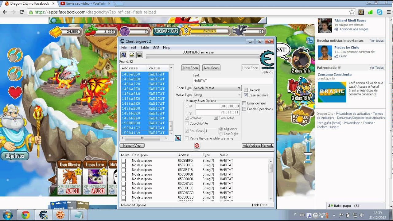 Dragon City hack cheat engine