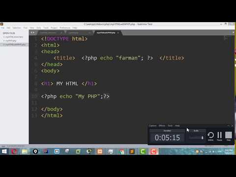 PHP Tutorial For Beginners 7 - Case sensitivity , Space and Error in PHP