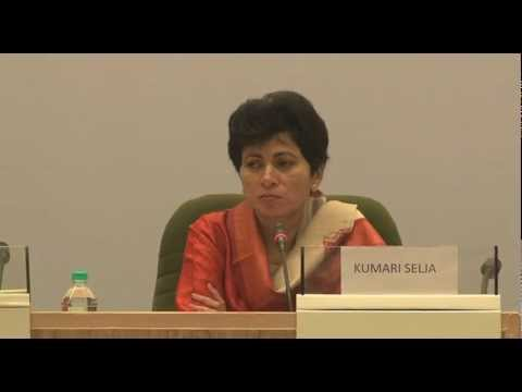 Honourable Minister Kumari Selja -  Inclusive Urbanisation