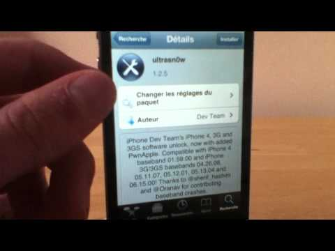 Unlock / Desimlock de son iPhone avec Ultrasn0w