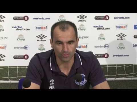 Roberto Martinez pre-Liverpool press conference