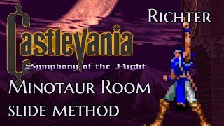 Castlevania:SOTN Richter Minotaur Room Slide Setup