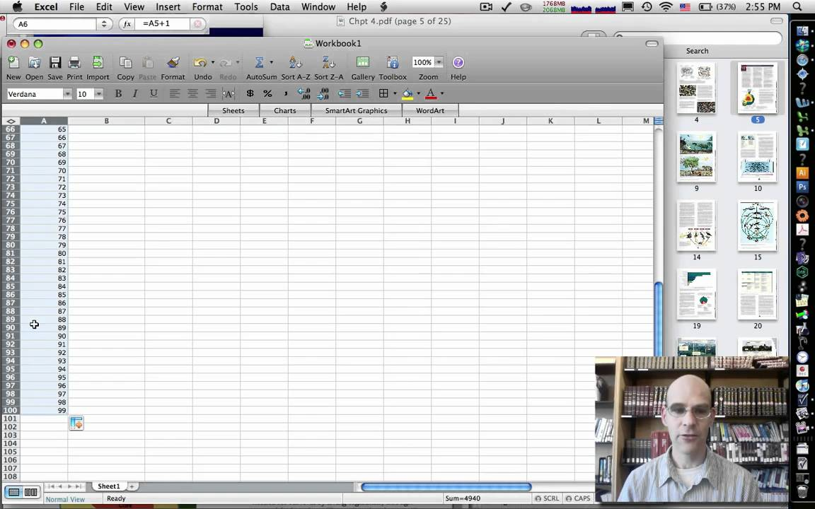 how to create an equation in excel