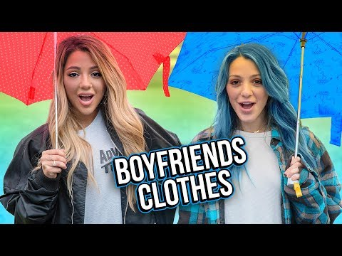 We Wore our Boyfriends Clothes for a Week