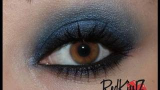 tutorial look ahumado azul