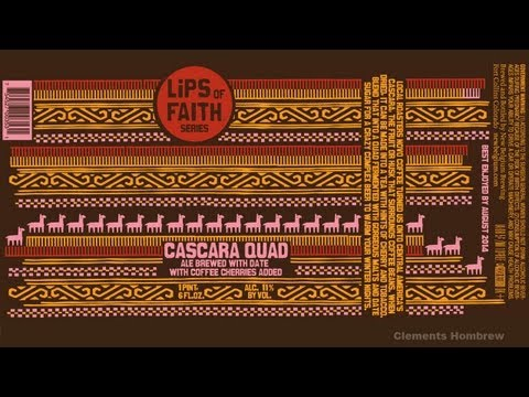 Beer Review 131: Cascara Quad , Lips of Faith series - New Belgium Brewing