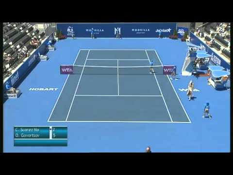 Full Match: Carla Suarez Navarro vs Olga Govortsova, Moorilla Hobart International 2013
