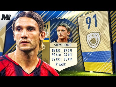 FIFA 18 PRIME SHEVCHENKO REVIEW | 91 PRIME SHEVCHENKO PLAYER REVIEW | FIFA 18 ULTIMATE TEAM