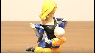 DRAGON BALL STOP MOTION ANDROID #18 & KRILLIN SON GOKOU ULTRA INSTINCT VS PERFECT CELL