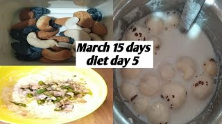 March 15 days weight lose diet, egg diet, low carb diet, day 5