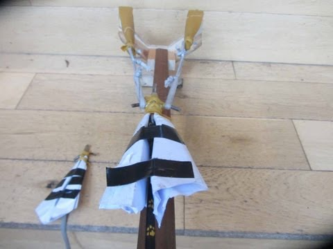 Leathalized Paper Plane Sling-Bow! - Very Powerfull