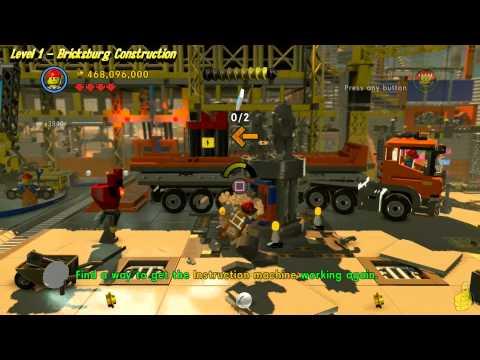 The Lego Movie Videogame: Level 1 Bricksburg Construction - FREE PLAY - (Pants & Gold Manuals) - HTG