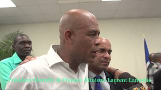 Laurent Lamothe and I are two brothers, said Michel Martelly