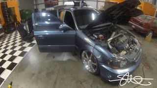 1998 Honda Civic Sound System Rebuild/Refresh - 7 Batteries, Buss Bars, Amps (Video 1)