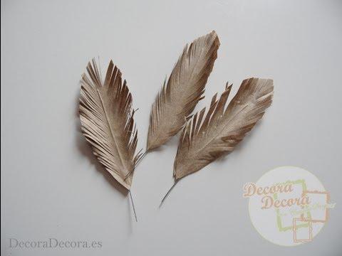 Plumas de papel youtube for Manualidades con plumas